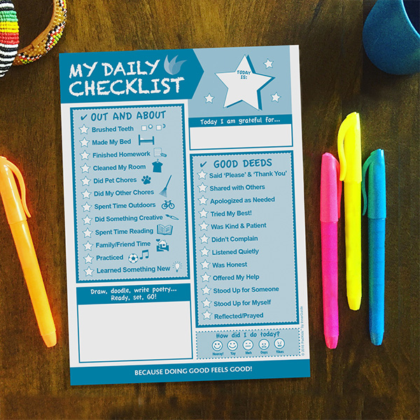 my daily checklist for kids 6 5 x9 innerguide