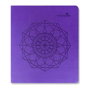Undated Faux Leather Yearly Planner—Purple