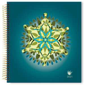 2021 (Jan-Dec) Dated Yearly Planner Hard Cover—Mandala