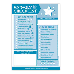 My Daily Checklist (For Kids!) 6.5″x9″
