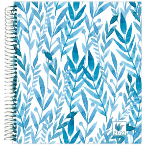 2021-2022 (July-June) Dated Academic Yearly Planner—Botanical (hardcover)