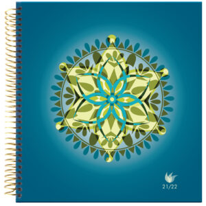 2021-2022 (July-June) Dated Academic Yearly Planner—Mandala (hardcover)