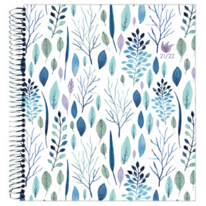 2021-2022 (July-June) Dated Academic Yearly Planner—Whimsical Plants (hardcover)