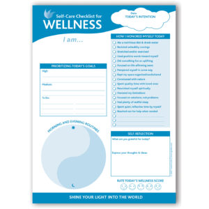 Self-Care Checklist For Wellness 6.5″x9″