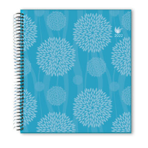 2022 (Jan-Dec) Dated Yearly Planner Hard Cover—Dreamy Flowers
