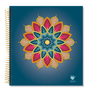 2022 (Jan-Dec) Dated Yearly Planner Hard Cover—Flower Power