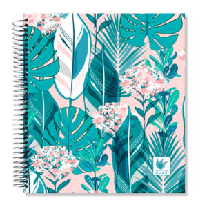 2022 (Jan-Dec) Dated Yearly Planner Hard Cover—Rainforest